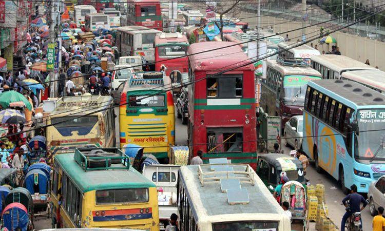 ঢাকা-ময়মনসিংহ মহাসড়কে বাড়ছে যানজট
