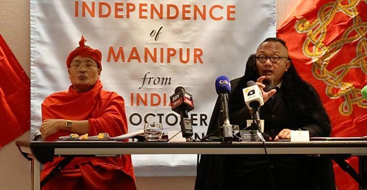 মনিপুরের স্বাধীনতার ঘোষণা, প্রবাসী সরকার গঠন