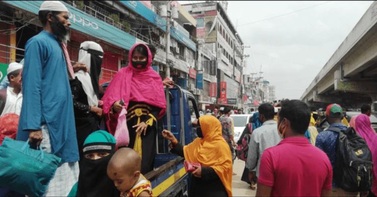 করোনা: ঢাকা-ময়মনসিংহ মহাসড়কে শ্রমিকস্রোত