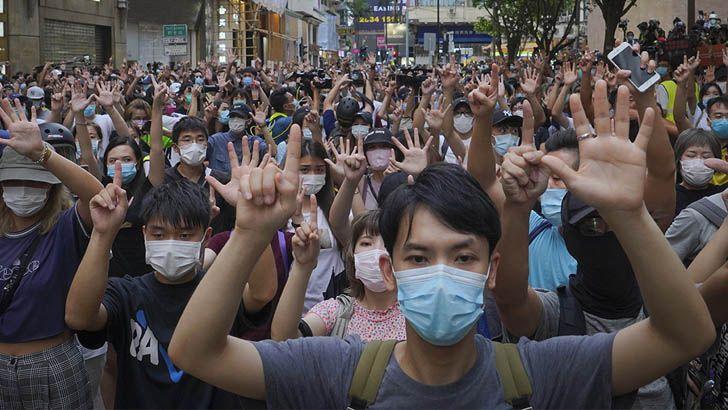 চীনের হংকং নিরাপত্তা আইনের বিরুদ্ধে বিক্ষোভ, তাইওয়ানের সংহতি