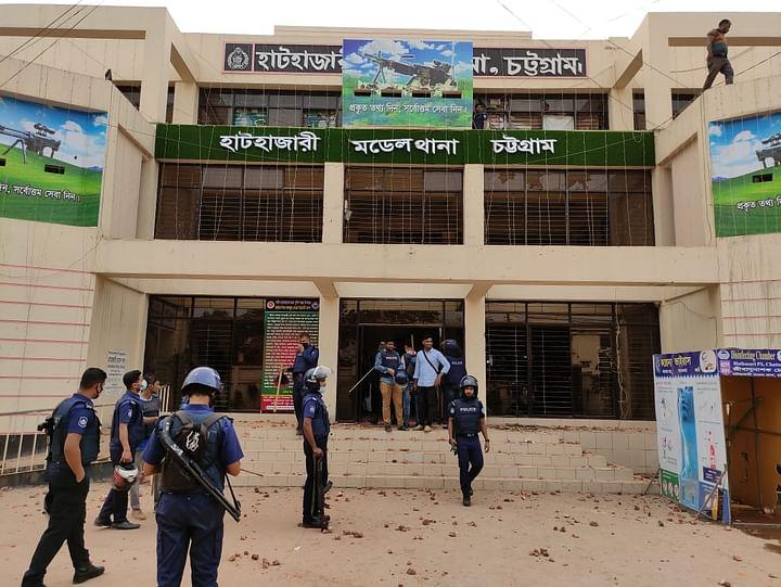হেফাজতের তাণ্ডব: হাটহাজারী থানা, ভূমি অফিসে হামলার ঘটনায় ৬ মামলা